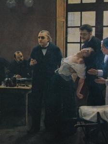 Cena clássica de Charcot, símbolo do poder médico sobre o corpo do doente